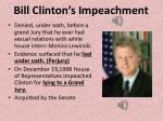 bill clinton s impeachment