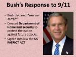 bush s response to 9 11