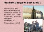 president george w bush 9 11