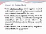 impact on expenditure