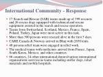 international community response