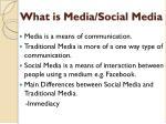 what is media social media