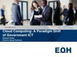 cloud computing a paradigm shift of government ict richard vester director cloud services
