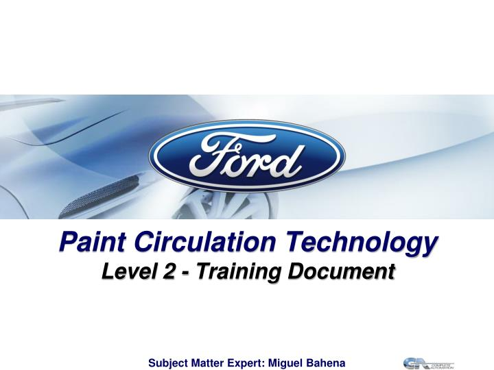paint circulation technology l evel 2 training document n.