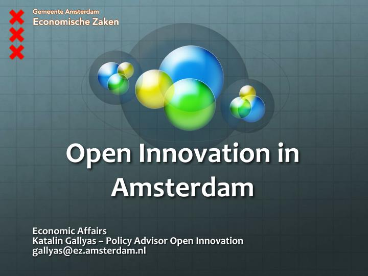 open innovation in amsterdam n.