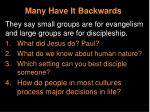 many have it backwards