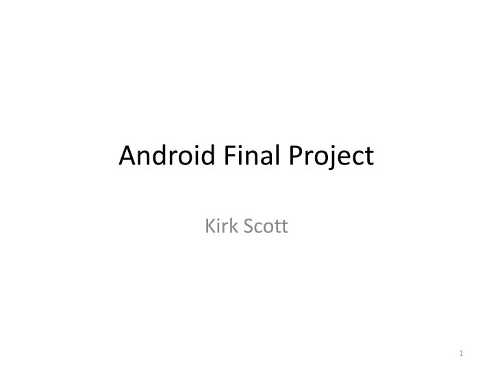 android final project