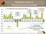 montana and u s personal income growth