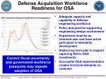 defense acquisition workforce readiness for osa