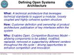 defining open systems architecture