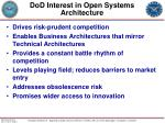 dod interest in open systems architecture