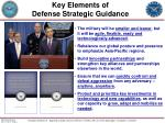 key elements of defense strategic guidance