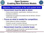 open systems enabling new business models
