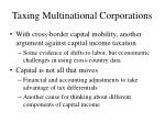 taxing multinational corporations