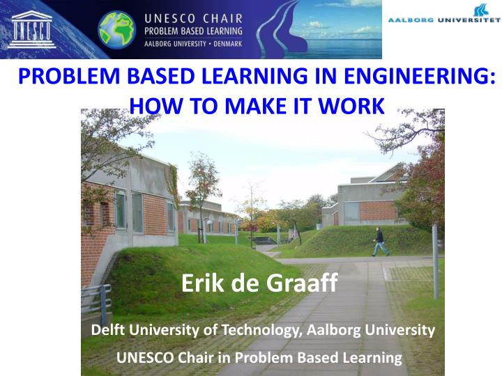 problem based learning in engineering how to make it work n.