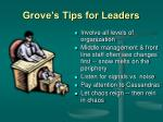 grove s tips for leaders