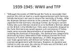 1939 1945 wwii and tfp5