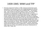 1939 1945 wwii and tfp9