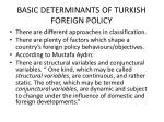 basic determinants of turkish foreign policy