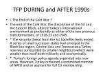tfp during and after 1990s
