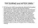 tfp during and after 1990s1