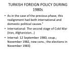 turkish foreign policy during 1980s1