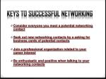keys to successful networking1