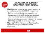 cbhfa pmer kit overview kit de pmer vision general