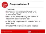 changes cambios 3