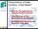 private delivery of public functions a new model