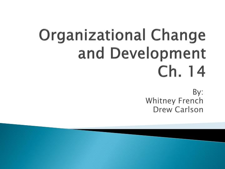 organizational change and development ch 14 n.