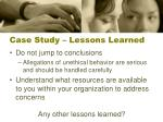 case study lessons learned4