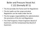 boiler and pressure vessel act c 122 formally b7 1
