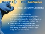 general security concerns