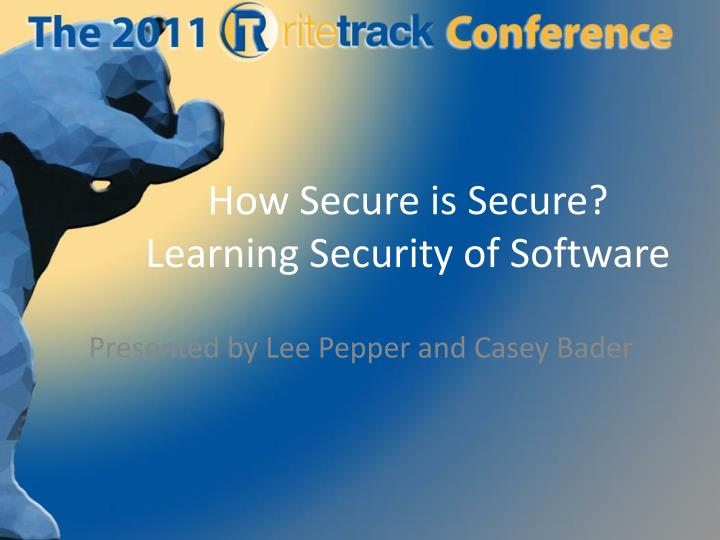 how secure is secure learning security of software n.
