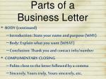 parts of a business letter2