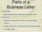 parts of a business letter3