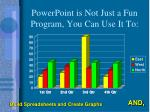 powerpoint is not just a fun program you can use it to