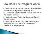 how does the program work