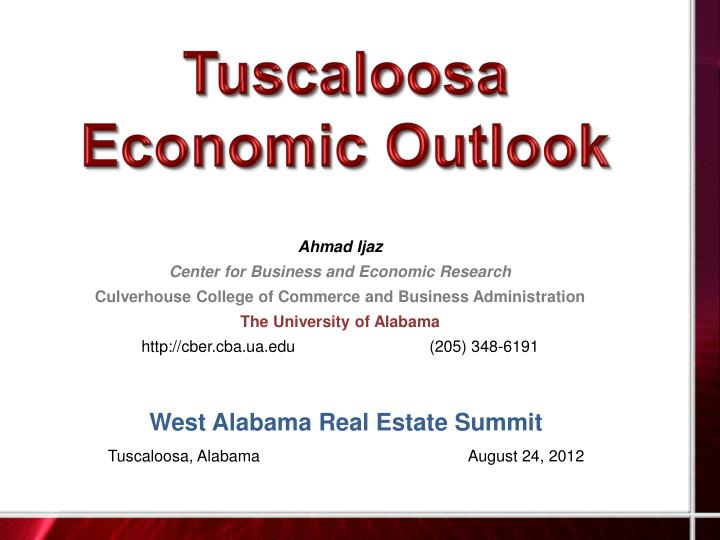 tuscaloosa economic outlook n.