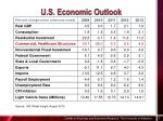 u s economic outlook