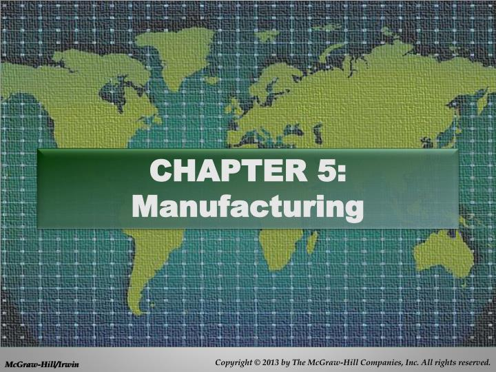 chapter 5 manufacturing n.