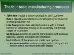the four basic manufacturing processes