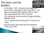 the dams and the builders