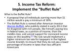 5 income tax reform implement the buffet rule