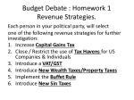 budget debate homework 1 revenue strategies