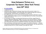 how delaware thrives as a corporate tax haven new york times june 30 th 2012
