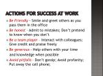 actions for success at work