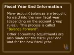fiscal year end information1