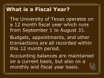 what is a fiscal year